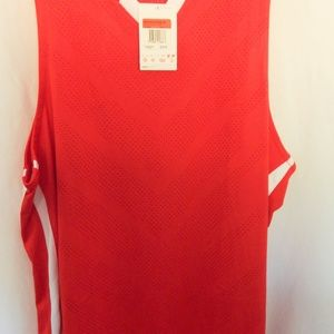 Nike basketball vest athletic top Red NWT M L